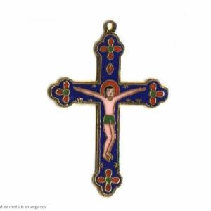 Cx 067b croix cretienne crucifix jesus christ insigne pelerin