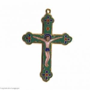Cx 068b croix cretienne crucifix jesus christ insigne pelerin