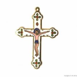 Cx 069a croix cretienne crucifix jesus christ insigne pelerin