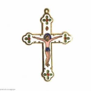 Cx 069b croix cretienne crucifix jesus christ insigne pelerin