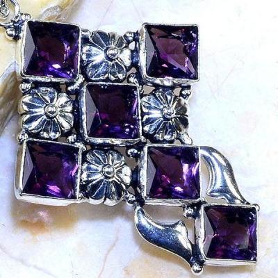 Cx 3107c croix pendentif crucufix amethyste violet 1900 bijoux achat vente argent 925