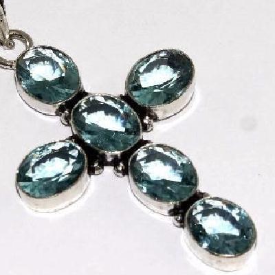 Cx 3142c croix pendentif 32x45mm 8gr topaze bleue suisse gothique achat vente bijou argent 925