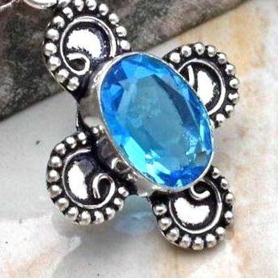 Cx 3150c croix bague crucufix aigue marine bleue gr 10x15m gothique bijoux achat vente