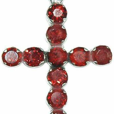 Cx 3154b croix 45mm chretienne crucifix 28x36mm 6gr grenat pendant pendentif achat vente