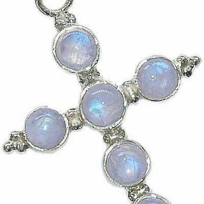 Cx 3183c pendentif croix chretienne pierre de lune argent 925 crucifix achat vente bijou religieux