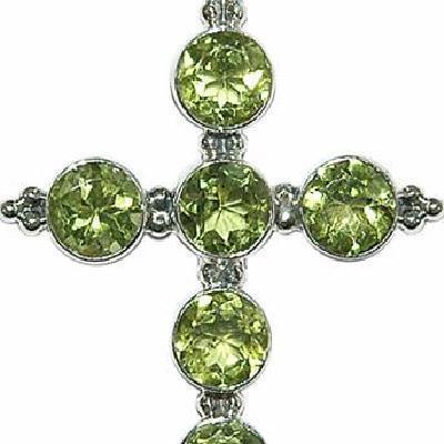 Cx 3195b croix pendentif crucifix chetienne peridot 32x52mm argent 925 achat vente bijoux