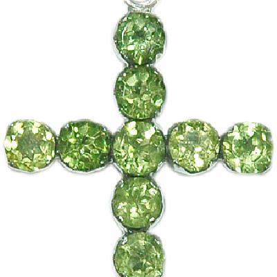 Cx 3196a croix pendentif crucifix chetienne peridot 32x52mm argent 925 achat vente bijoux
