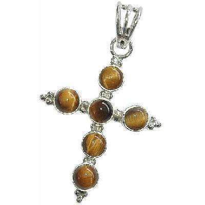 Cx 3202b croix pendentif pendant oeil de tigre 30x48mm 5gr achat vente bijou argent 925