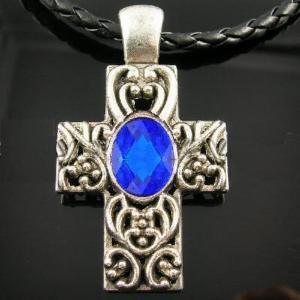 Cx 3204a pendentif croix crucufix strass bijou achat vente argent 925