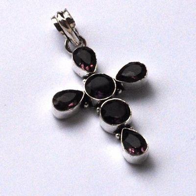 Cx 3212c croix pendentif crucufix amethyste 10gr 40x30mm gothique chretienne bijoux achat vente