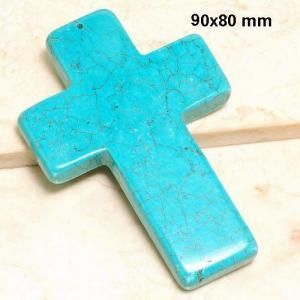 Cx 3233a croix chretienne crucifix 60x80mm blue turquoise pendant achat vente