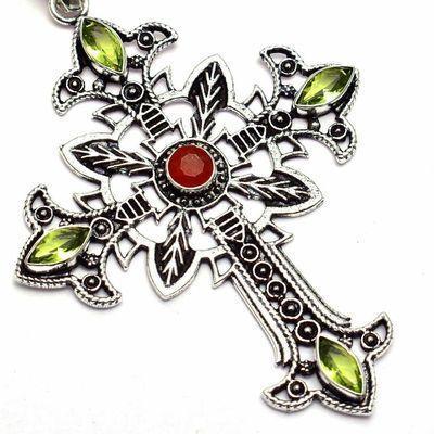 Cx 3251c croix crucifix pendentif pendant 30x40mm argent 925