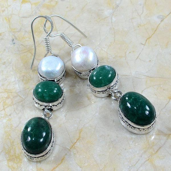 Em 0305a boucles emeraude perle
