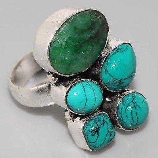 Em 0306a bague emeraude turquoise