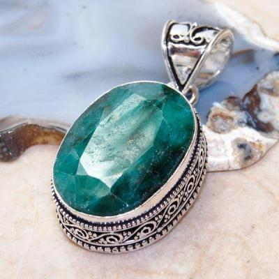 Em 0313a pendentif emeraude achat vente bijou ethnique argent 925