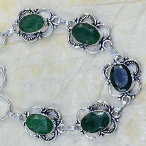 Em 0319b bracelet emeraude argent 925