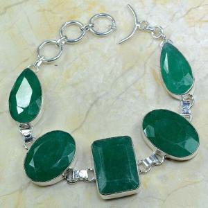 Em 0324a bracelet emeraude argent 925 achat vente