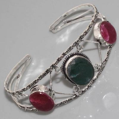 Em 0336a bracelet emeraude rubis argent 925 achat vente 1