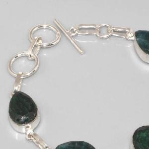 Em 0337b bracelet emeraude argent 925 achat vente