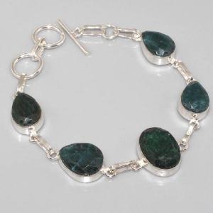 Em 0337c bracelet emeraude argent 925 achat vente
