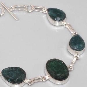 Em 0337d bracelet emeraude argent 925 achat vente