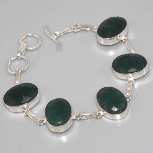 Em 0338a bracelet emeraude argent 925 achat vente 1