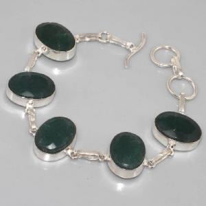 Em 0338b bracelet emeraude argent 925 achat vente