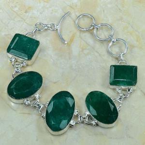 Em 0340a bracelet emeraude argent 925 achat vente bijou