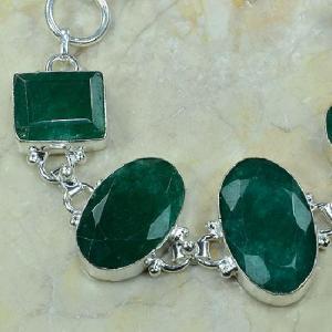 Em 0340b bracelet emeraude argent 925 achat vente bijou