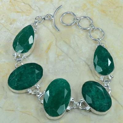 Em 0341a bracelet emeraude argent 925 achat vente 1