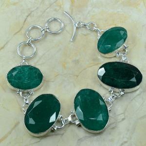 Em 0343a bracelet emeraude argent 925 achat vente bijou