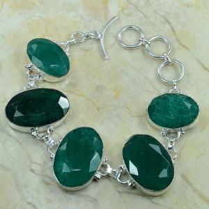 Em 0343b bracelet emeraude argent 925 achat vente bijou