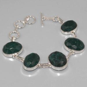 Em 0356a bracelet emeraude argent 925 achat vente
