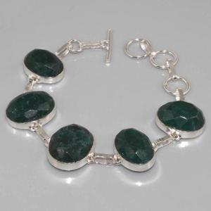 Em 0356c bracelet emeraude argent 925 achat vente