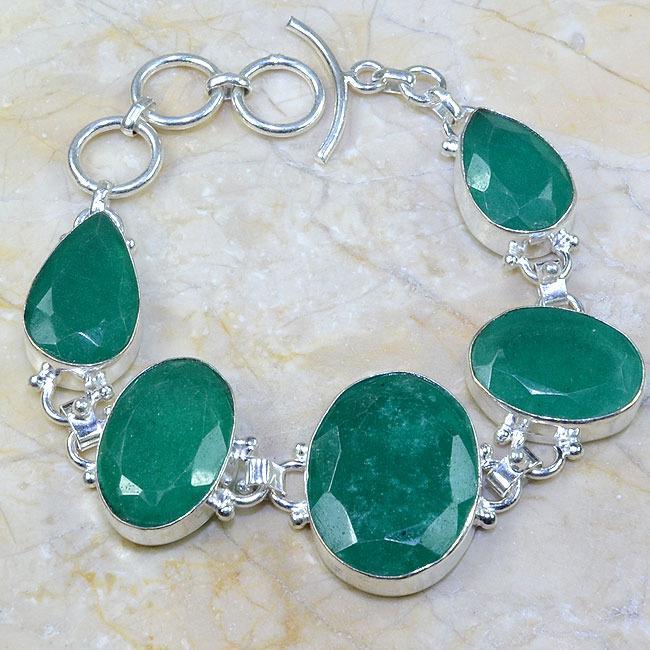 Em 0396a bracelet emeraude argent 925 achat vente