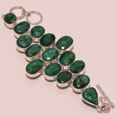 Em 0398a bracelet emeraude argent 925 achat vente 1