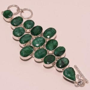 Em 0398a bracelet emeraude argent 925 achat vente