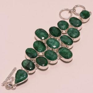 Em 0398e bracelet emeraude argent 925 achat vente