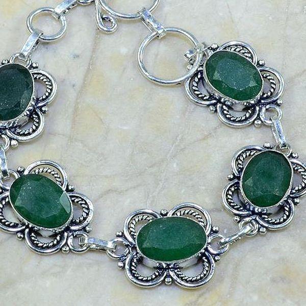 Em 0401c bracelet emeraude argent 925 achat vente bijou