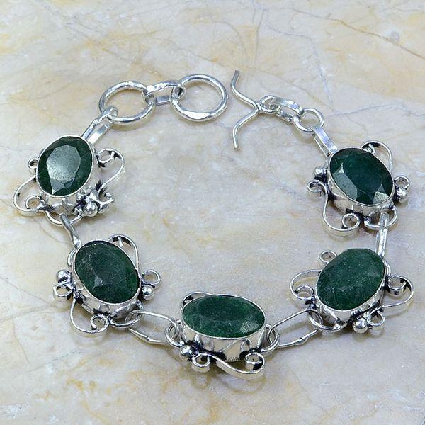 Em 0406a bracelet emeraude argent 925 achat vente bijou