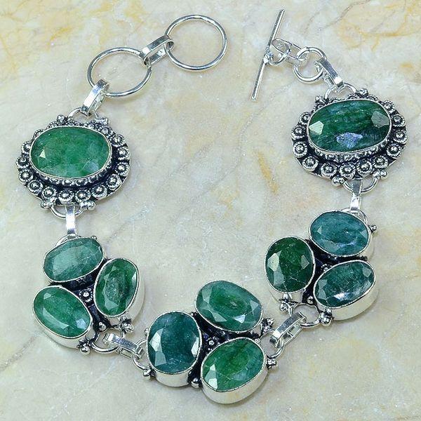 Em 0412a bracelet emeraude argent 925 achat vente bijoux