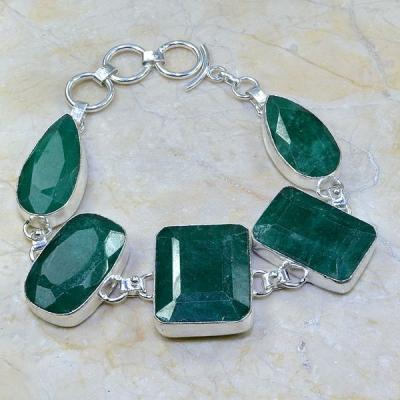 Em 0413a bracelet emeraude argent 925 achat vente bijoux