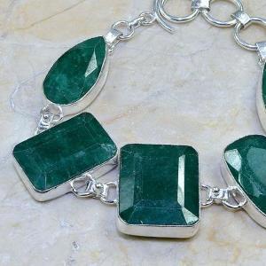 Em 0413b bracelet emeraude argent 925 achat vente bijoux