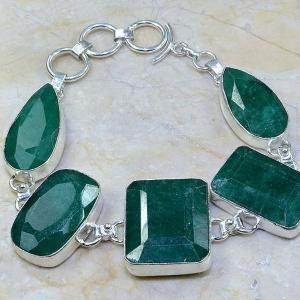 Em 0413c bracelet emeraude argent 925 achat vente bijoux
