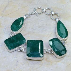 Em 0413d bracelet emeraude argent 925 achat vente bijoux