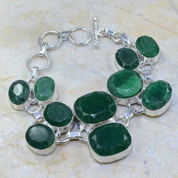 Em 0414a bracelet emeraude cachemire argent 925 achat vente bijoux