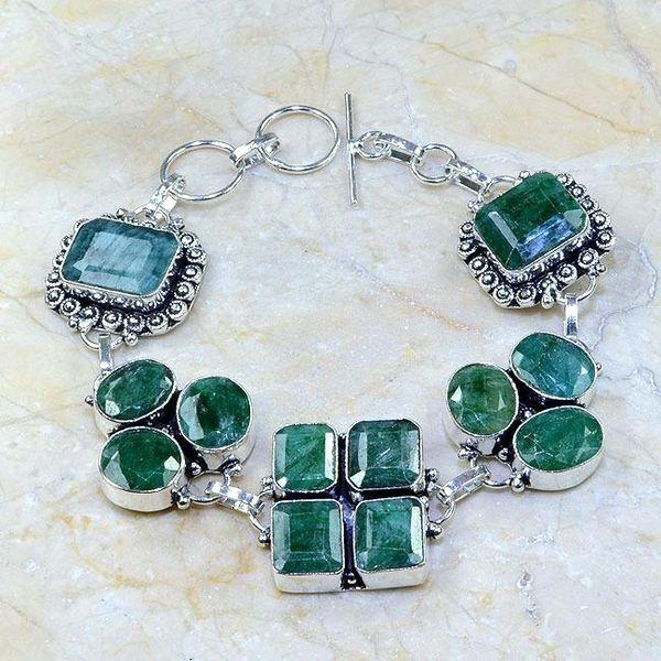 Em 0415a bracelet emeraude argent 925 achat vente bijoux