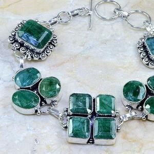 Em 0415b bracelet emeraude argent 925 achat vente bijoux