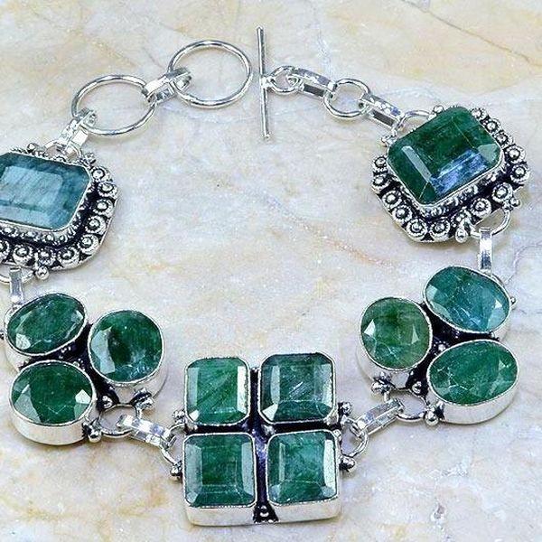 Em 0415c bracelet emeraude argent 925 achat vente bijoux
