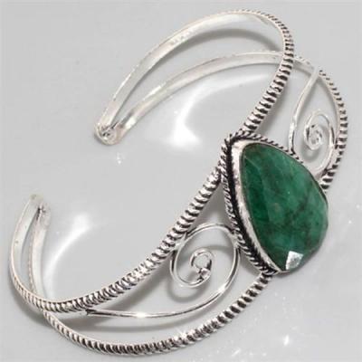 Em 0417a bracelet emeraude argent 925 achat vente bijoux